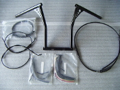 "12"" handlebar & cable kit for 2007 Harley Road Glide/Road King"
