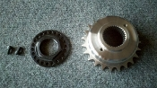 Offset sprocket 200 hardtail & locking transmission output nut