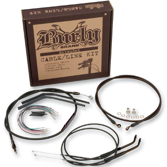 "Burly 12"" Handlebar Installation Cable Kit-Dyna WideGlide(FXDWG)"