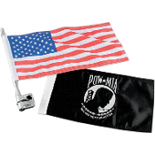 Vertical Flag Mount With Flag