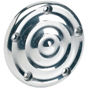 Polished Ripple Ignition Cover- 5 Hole Mount