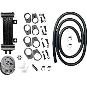 Deluxe 6-row Vertical Frame-Mount Oil Cooler Kit