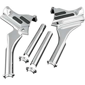 Chrome Neck Cover Kit for 95-07 FLT, FLHT, FLHX, FLTR, FLHR