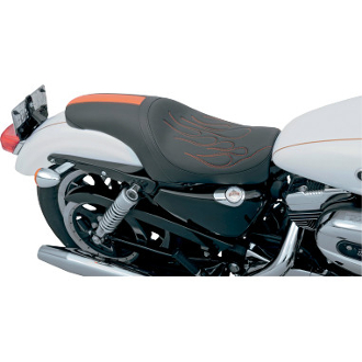 Orange Flame  w/GT Stripe Predator Seat for ALL 04-14 XL
