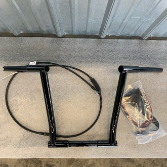 "15""x1 1/4"" Naked bars&cablekitfor08-13ABS,Road Glide/King"