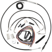 LA Choppers 08-13 FLTR/FLHR W/O ABS Handlebar Cable Kits